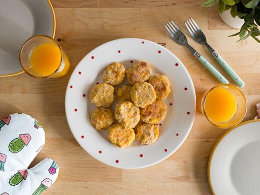 Nuggets acompanhados de Um Bongo