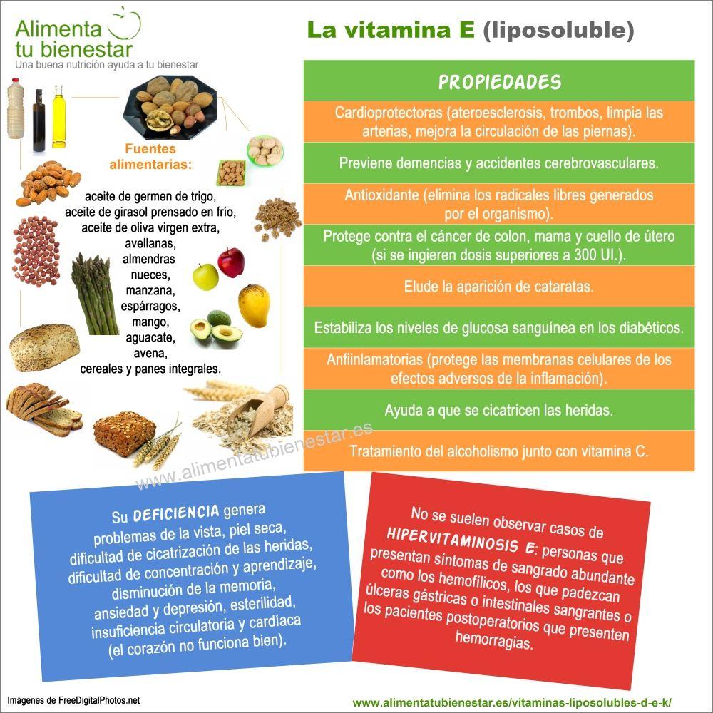 Vitaminas liposolubles - Infografia vitamina E