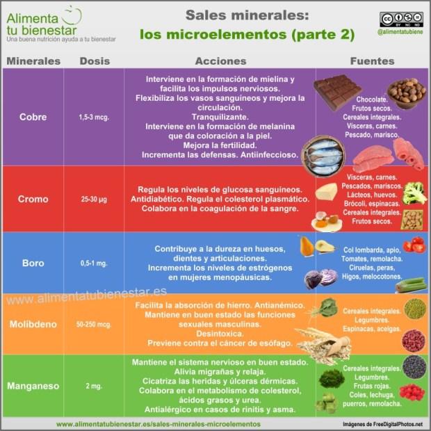 Infografía Sales minerales Microelementos II