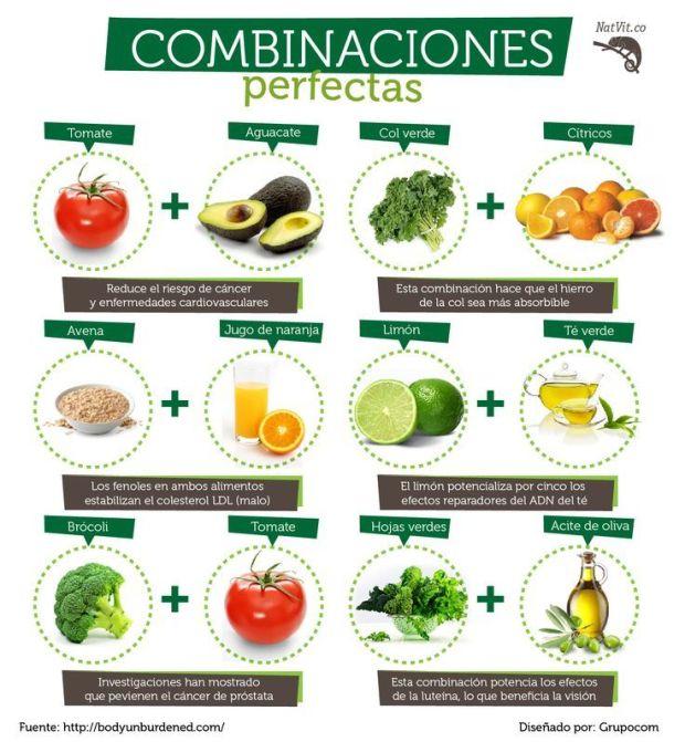 8 combinaciones de alimentos perfectas para ti