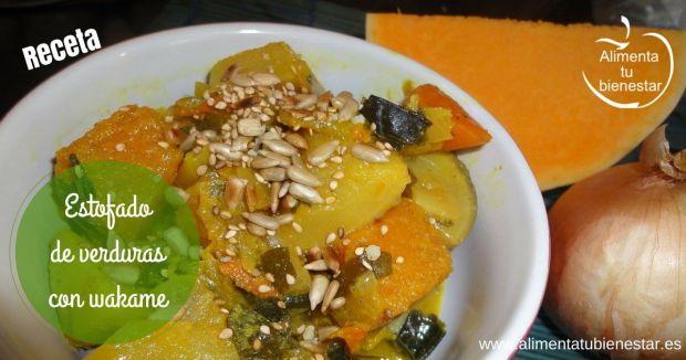 Receta de estofado de verduras con alga wakame