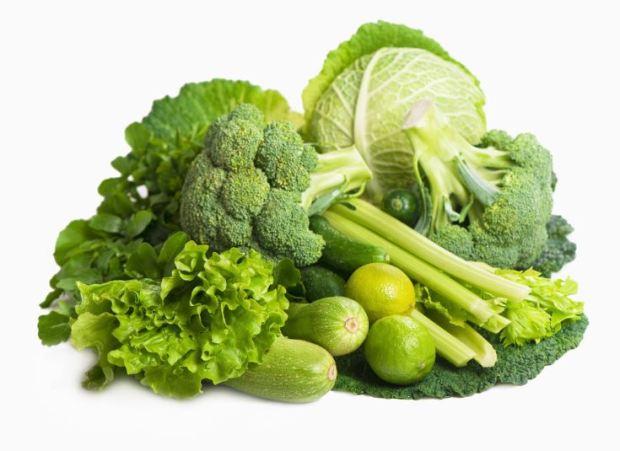 enzimas de los alimentos - verduras verdes