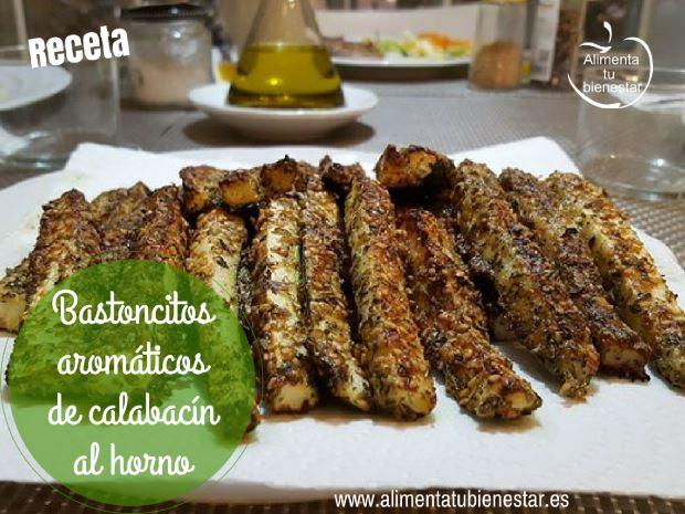 Receta de bastoncitos aromáticos de calabacín al horno