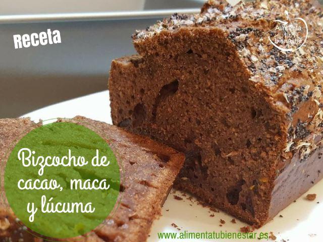 Bizcocho de cacao, maca y lúcuma, sin un gramo de azúcar ni edulcorantes