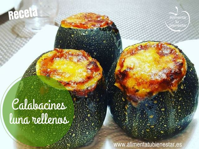 Calabacines luna rellenos, receta