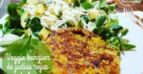 Veggie burger de judías rojas y bulgur (receta de hambuguesa vegetal)