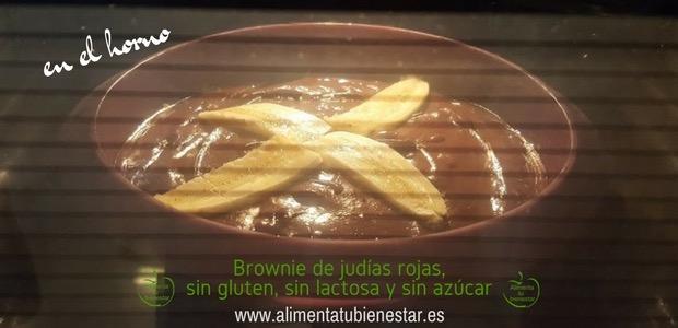 Brownie de judías rojas en el horno