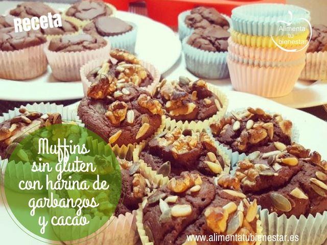 Muffins sin gluten con harina de garbanzos y cacao