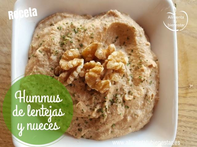 hummus de lentejas y nueces receta