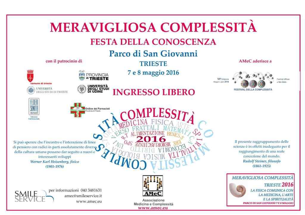 Programma Meravigliosa Complessità - Amec - Trieste 2016 - Festa della Conoscenza - 1