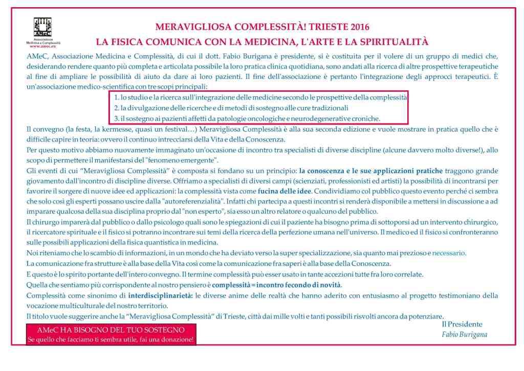 Programma Meravigliosa Complessità - Amec - Trieste 2016 - Festa della Conoscenza - 2