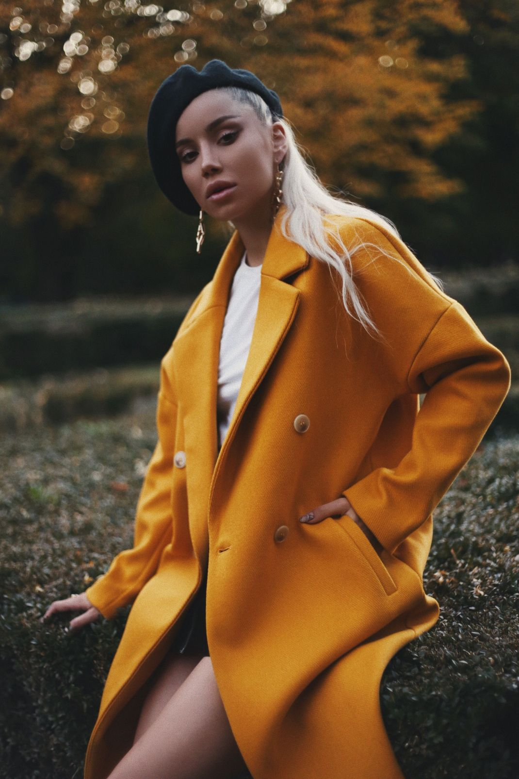 #MyDayMyJacket: The dropped-shoulder mustard coat