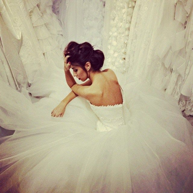 Here comes the bride…