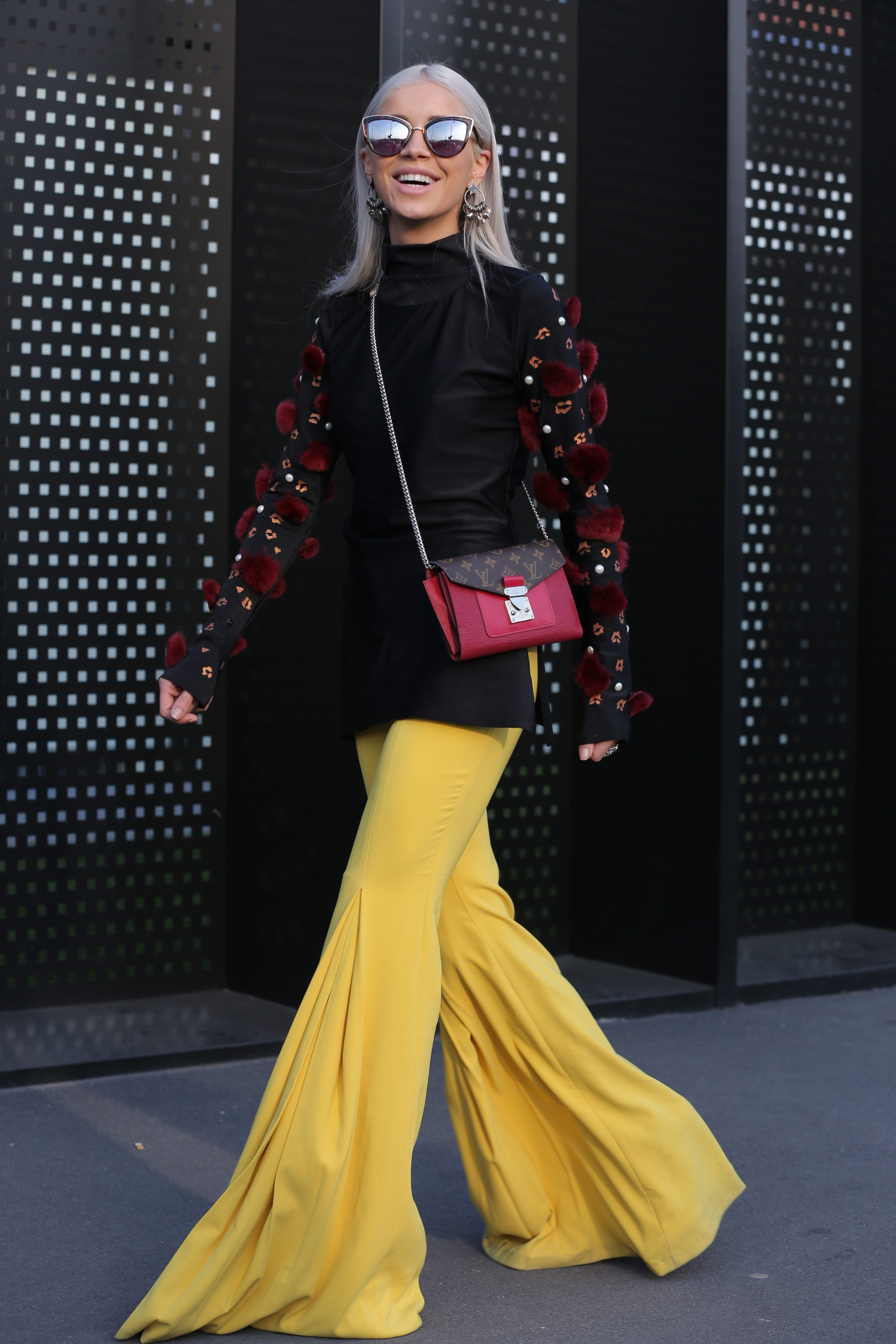MFW DAY 1: Yellow flares and embellished sleeves
