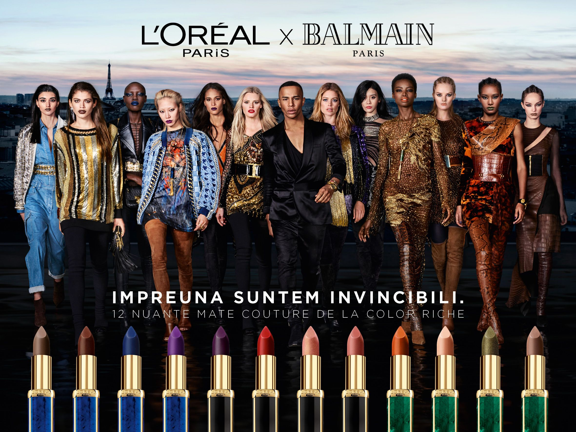 BALMAIN Paris x L'Oreal Paris Lipstick Collection