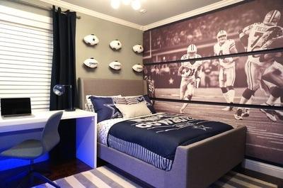 Dallas Cowboys bedroom  Alina Druga interiors