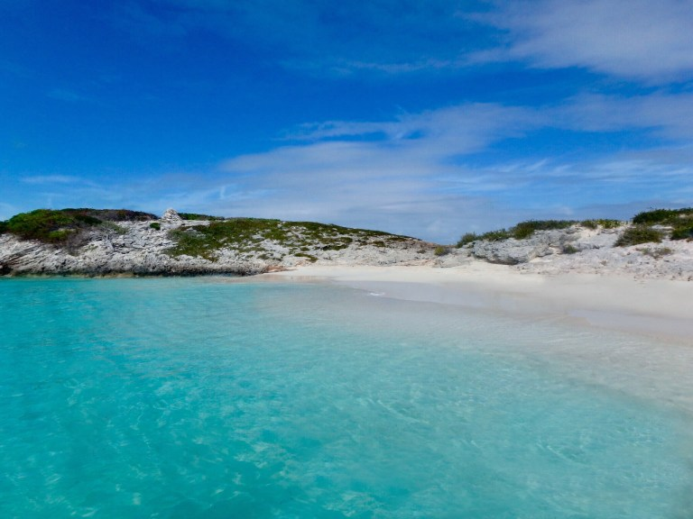 One of the many secluded, untouched beaches around the Exuma Cays