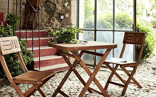 table de jardin en bois meubles de