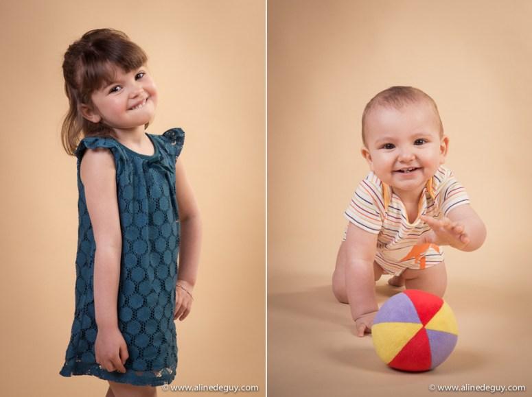 portrait enfant, portrait bébé, séance photo studio, photos originales enfant