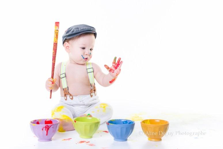 photographe, aline deguy, Paris, Studio, Photo, casting, bébé, peinture, jeux, éveil, séance photo, shooting, 92
