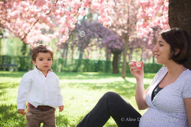 photographe famille, grossesse, séance photo extérieur, aline deguy, paris, sceaux
