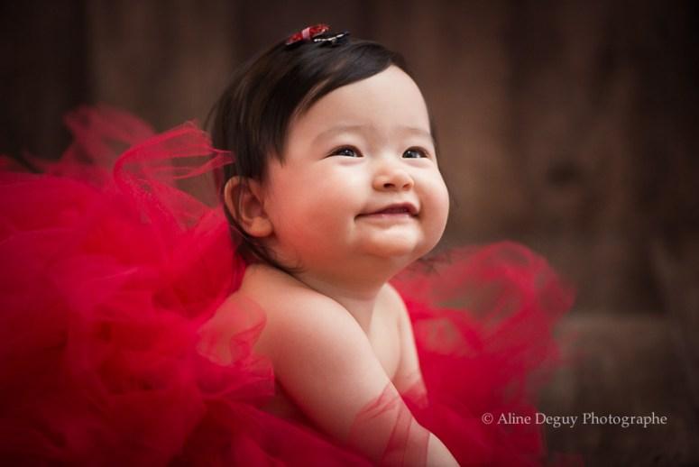 Portrait bébé, asiatique, métisse, studio