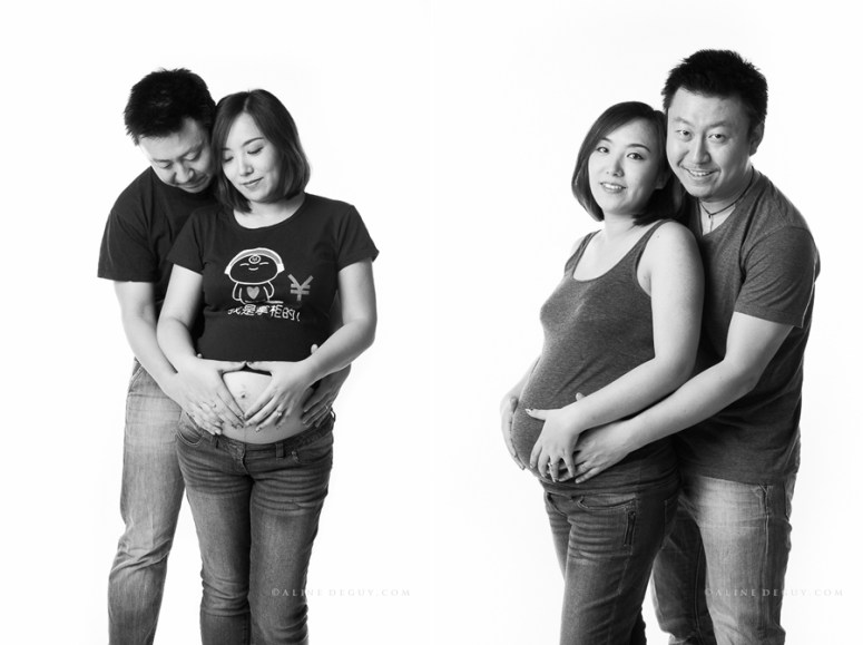 photographe, studio, couple, Femme enceinte, famille, 91