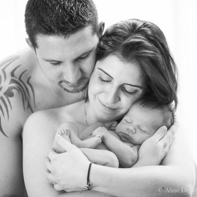 photographe de famille en studio, naissance, bébé