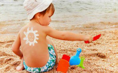 Cuidados com crianças na praia