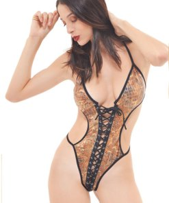 Body fio dental com estampa de serpente aline lingerie