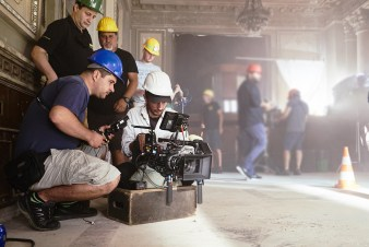 Getting the camera ready, the Sony F55