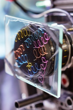 This little coloured wires trapped inside two layers of glass is a custom made filter to enhance flares