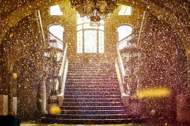 A final bang threw more gold glitter from the up-stairs