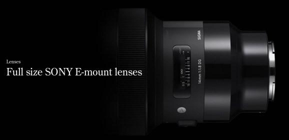 Sigma anunta disponibilitatea a 9 obiective pentru montura Sony E