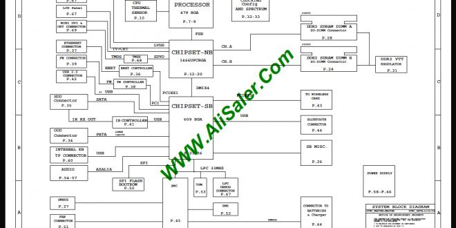 Macbook A1181 13″ M42C MLB 051-7173 820-1889 Schematic
