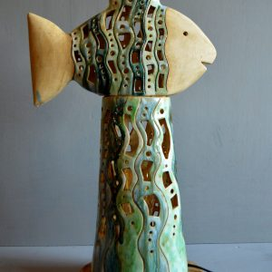 ceramic fish candleholder
