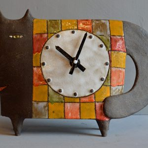 ceramic cat clock