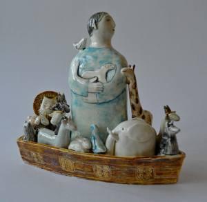 figurative-ceramics - 3a.Noahs-Ark-faienceglazesh-20.2017