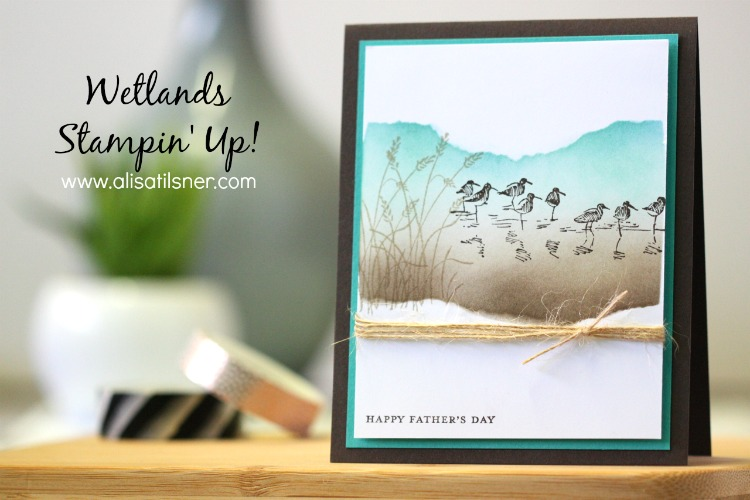 Stampin Up Wetlands