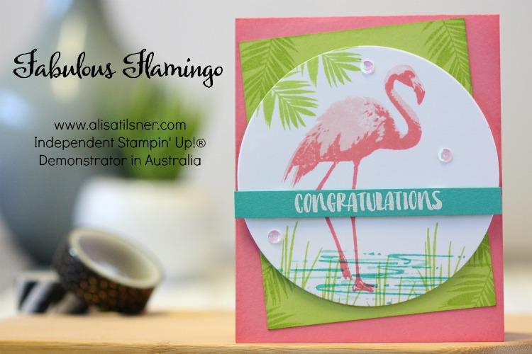 Stampin' Up! Fabulous Flamingos