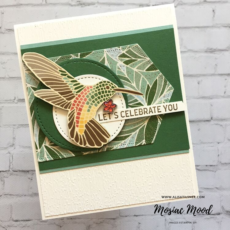 Mosaic Mood Designer Series Paper by Stampin' Up!.  Card created by Alisa Tilsner