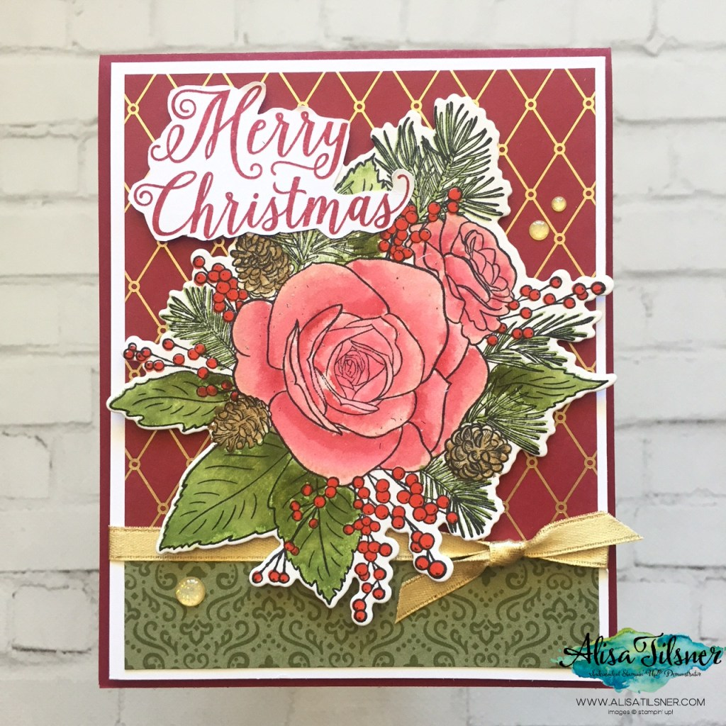 Christmastime is Here Suite by Stampin' Up!  Card created by Alisa Tilsner - Video Tutorial on blog.