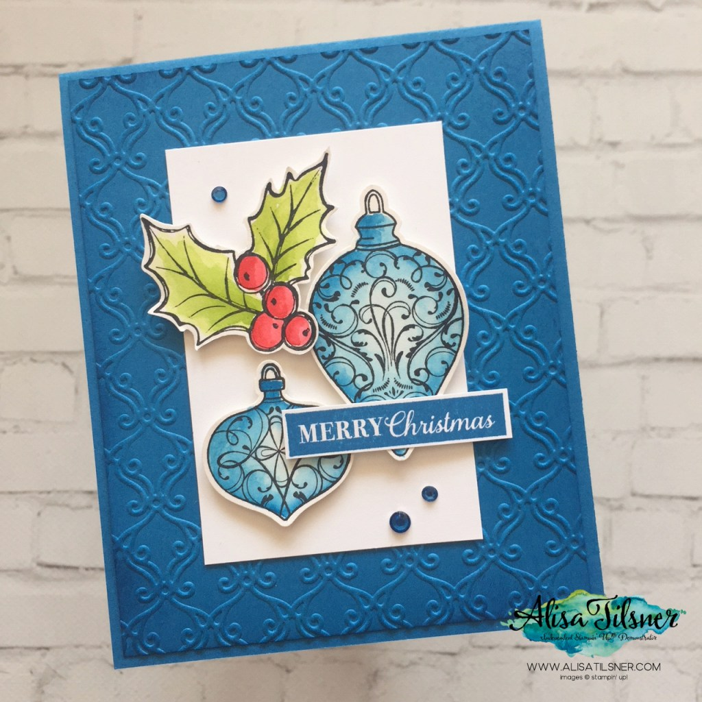 Christmas Gleaming Stamp and Punch Bundle by Stampin' Up! ® Card created by Alisa Tilsner