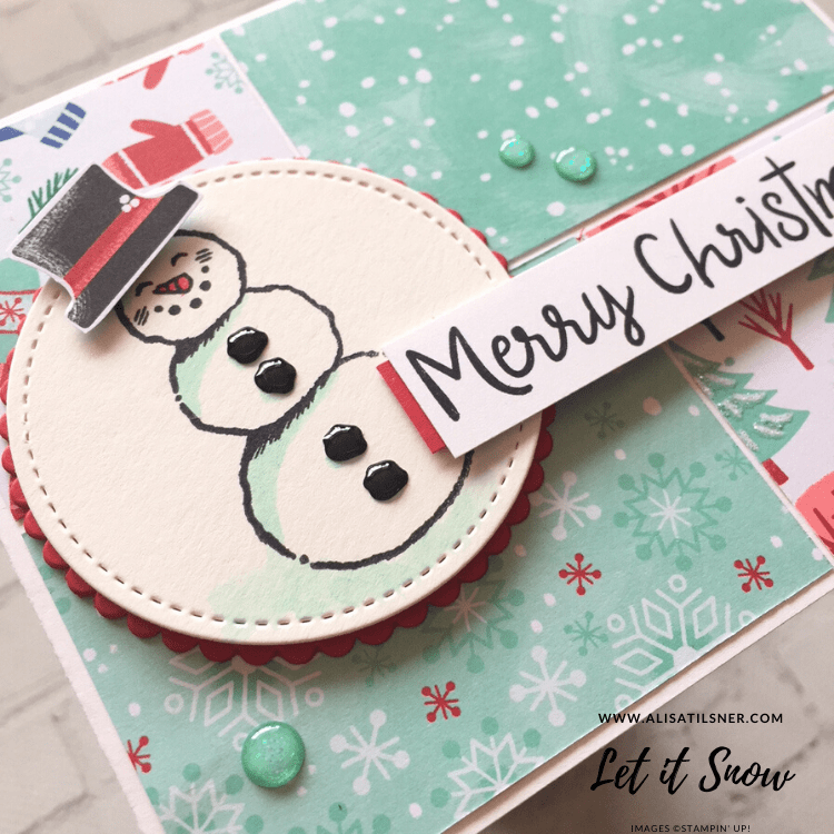 Let it Snow by Stampin' Up!  Card created by Alisa Tilsner