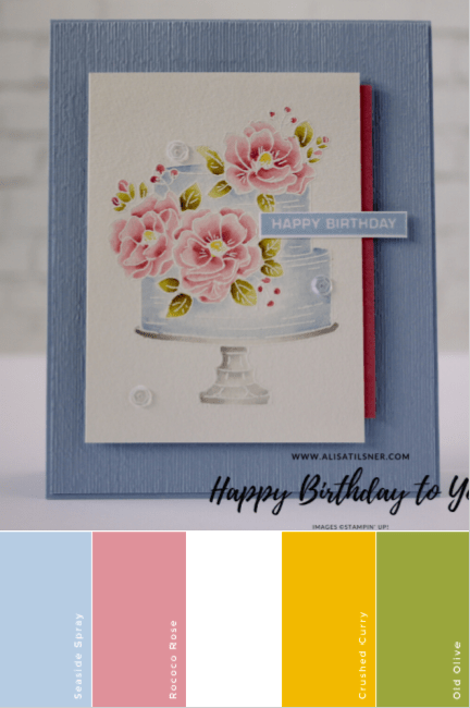 Happy Birthday To You Stamp Set by Stampin' Up!  This set is from the Sale a Bration brochure and could be yours FREE with a qualifying order of AU$90.  Card by Alisa Tilsner. Stampin' Creative Blog Hop #alisatilsner #cardmaking #stampinupaustralia #papercrafts #saleabration #stampinupmini #stampinuphappybirthdaytoyou