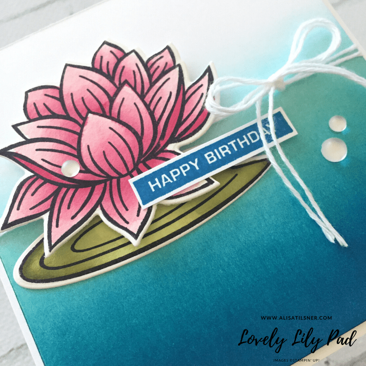 Lovely Lily Pad Sale a Bration Stamp Set from Stampin' Up!.  Card created by Alisa Tilsner