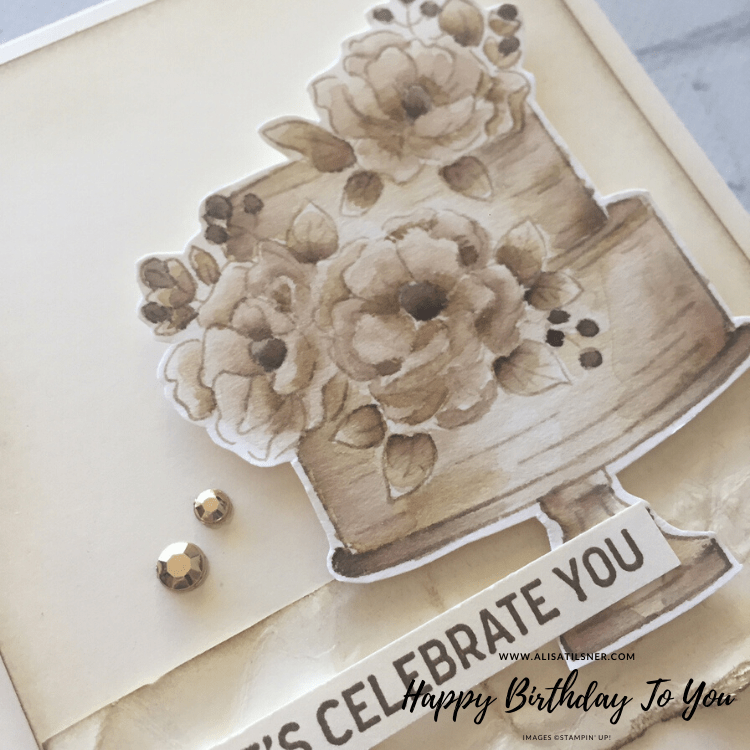 Happy Birthday To You Sale a Bration Set from Stampin' Up!  Card by Alisa Tilsner