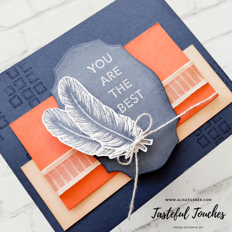 Tasteful Touches by Stampin' Up!.  Available from June 3rd.