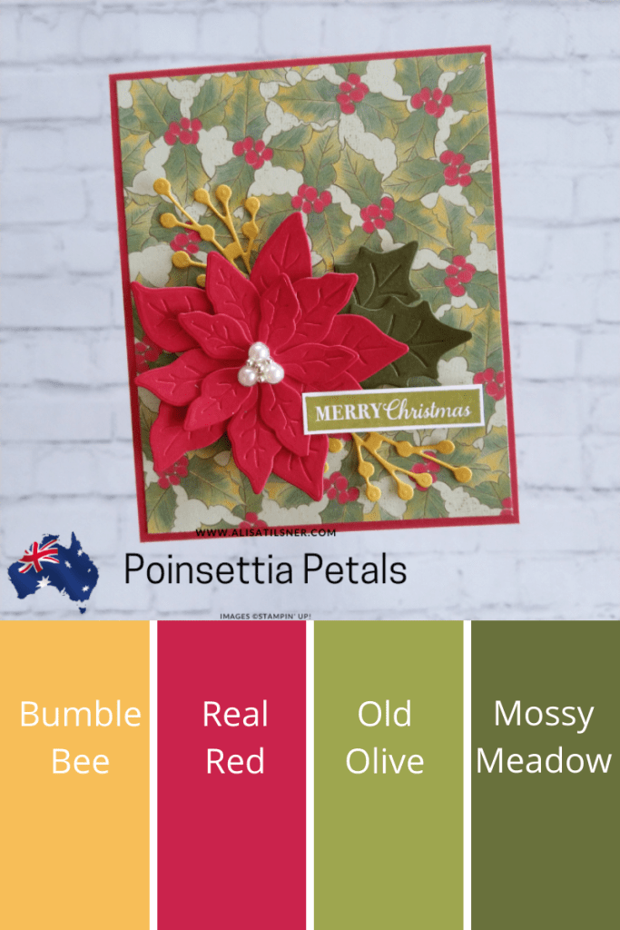 Easy Stampin' Up! Poinsettia Christmas Card