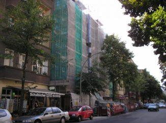 Fassade in Arbeit
